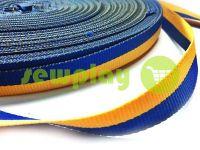 Тесьма национальная репсовая 10 мм - 50 мм, цвет желто-голубой