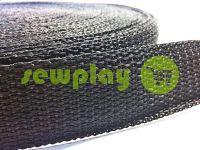 Тесьма для сумок 25 мм - 40 мм, цвет черный