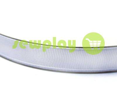Тесьма репсовая полиамид 10 мм - 50 мм, цвет белый