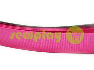 Тесьма репсовая полиамид 15 мм, 20 мм, цвет розовый 033
