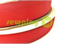 Тесьма репсовая полиамид 15 мм - 50 мм, цвет красный 026