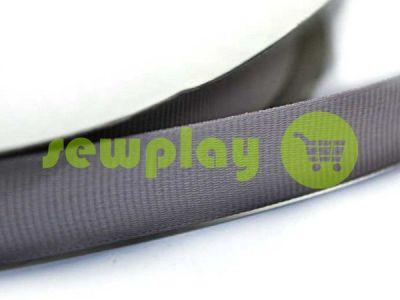 Тесьма репсовая полиамид 15 мм, цвет серый 106 арт