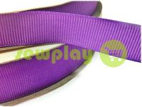 Тесьма репсовая полиамид 15 мм, цвет фиолетовый 144
