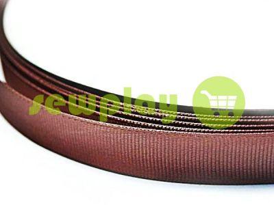 Тесьма репсовая полиамид 15 мм, цвет коричневый 136 арт