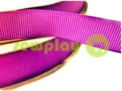 Тесьма репсовая полиамид 15 мм; 20 мм, цвет фиолетовый 117 арт