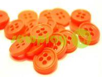 Пуговица пластиковая четырех-ударная, цвет оранжевый, упаковка 25 шт