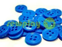 Пуговица пластиковая четырех-ударная, цвет голубой, упаковка 25 шт