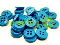 Пуговица пластиковая четырех-ударная, цвет светло-голубой, упаковка 25 шт
