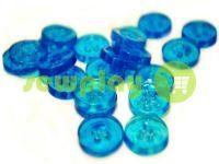 Пуговица пластиковая четырех-ударная, цвет прозрачный голубой, упаковка 25 шт