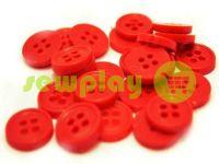 Пуговица пластиковая четырех-ударная, цвет красный, упаковка 25 шт