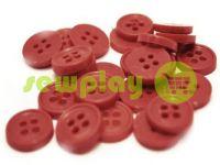 Пуговица пластиковая четырех-ударная, цвет бордовый, упаковка 25 шт