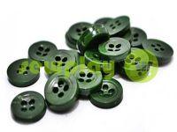 Пуговица пластиковая четырех-ударная, цвет зеленый, упаковка 25 шт