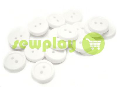 Пуговица пластиковая двух-ударная, цвет белый, упаковка 25 шт арт 2400