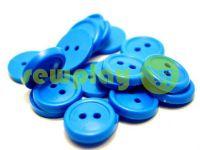 Пуговица пластиковая двух-ударная, цвет голубой, упаковка 25 шт