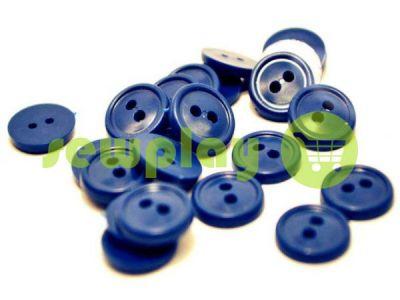 Пуговица пластиковая двух-ударная, цвет голубой, упаковка 25 шт арт 2406