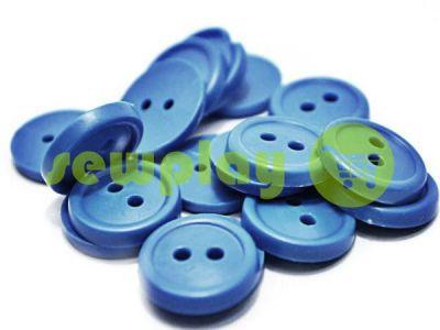 Пуговица пластиковая двух-ударная, цвет голубой, упаковка 25 шт арт 2407