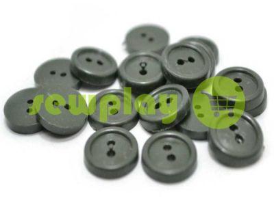 Пуговица пластиковая двух-ударная, цвет серый, упаковка 25 шт арт 2410