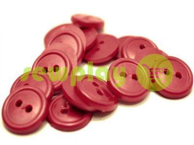 Пуговица пластиковая двух-ударная, цвет бордовый, упаковка 25 шт арт 2413