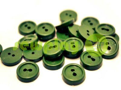 Пуговица пластиковая двух-ударная, цвет оливковый, упаковка 25 шт арт 2418