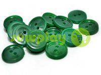 Пуговица пластиковая двух-ударная, цвет зеленый, упаковка 25 шт