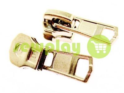 Slider for metal zipper square II type 5 nickel sku 2737
