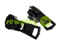 Slider for metal zipper square II type 5 black sku 2742