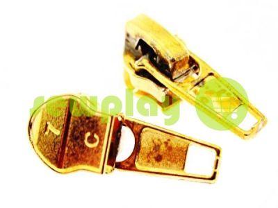 Бегунок стандартный для спиральной молнии тип 7 золото арт 2743