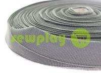 Резинка текстильная серая 25 мм плотная