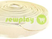 Elastic band textile beige 25 mm thick