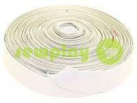 Резинка текстильная бежевая 25 мм плотная