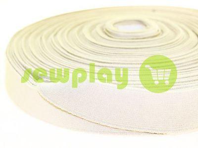 Резинка текстильная бежевая 25 мм плотная арт 2753