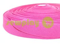 Elastic band textile pink 25 mm thick