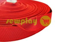 Elastic band textile red 25 mm thick sku 2756
