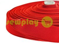 Elastic band textile red 25 mm thick