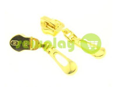Бігунок Крапля для спіральної блискавки тип 7 золото арт 1239