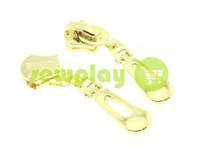 Slider Drop for metal zipper type 5 gold sku 1241