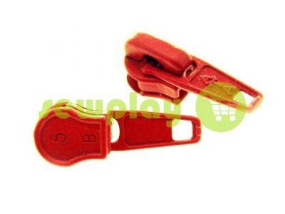 Бегунок стандартный для спиральной молнии тип 5 красный  арт 1251