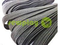Резинка текстильная черная 10 мм стандартная, 10 м