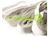 Резинка текстильная белая 10 мм х/б, 10 м