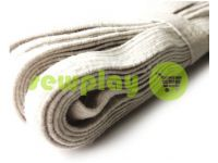 Elastic band textile white 10 mm cottons, 10 m