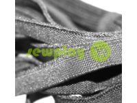 Резинка текстильная черная 10 мм плотная, 25 м