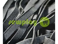 Elastic band textile black 10 mm thick, 25 m