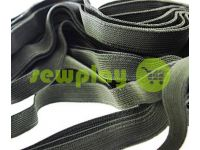 Elastic band textile olive 10 mm thick, 25 m