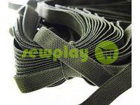 Резинка текстильная оливковая 10 мм плотная, 25 м