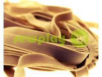 Elastic band textile beige 10 mm thick, 25 m