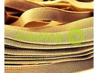 Резинка текстильная бежевая 10 мм плотная, 25 м