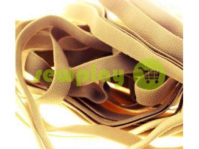 Резинка текстильная бежевая 10 мм плотная, 25 м арт 1265