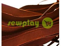 Elastic band textile brown 10 mm thick, 25 m