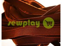 Резинка текстильная коричневая 10 мм плотная, 25 м