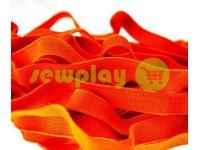 Резинка текстильная оранжевая 10 мм плотная, 25 м